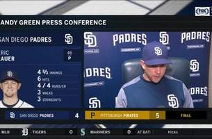Andy Green talks about Eric Lauer, his club's defense in loss