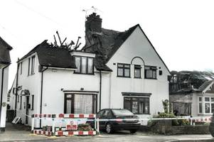 Shocking pictures from scene of Waltham Abbey house fire reveal the extent of the damage
