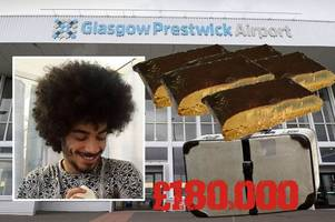 brothers nicked at prestwick airport had £180,000 of cannabis in their bags
