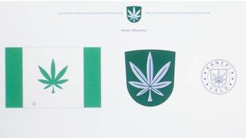 estonia's kanepi town adopts cannabis leaf flag after online poll