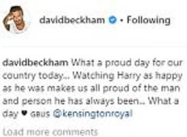 David Beckham takes to Instagram after Harry and Meghan's wedding