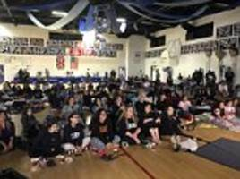 Students at Meghan Markle's old high school watch royal wedding in their pyjamas at 4am