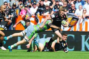 exeter chiefs 36 newcastle falcons 5: match report - exe power past helpless newcastle in premiership semi-final
