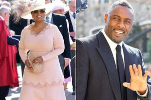 Oprah Winfrey and Idris Elba lead celebrities arriving at royal wedding in glorious sunshine