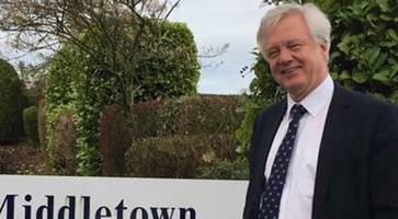Brexit Secretary David Davis visits Northern Ireland