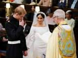 Meghan reduced an emotional Harry to tears as she entered St George's Chapel