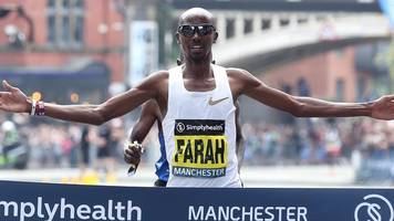 mo farah wins first 10km great manchester run ahead of moses kipsiro