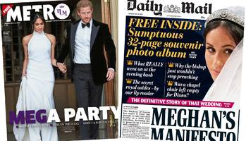paper review: 'mega party' and 'meghan's manifesto'