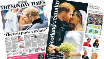 Scotland's papers: 'The Dumbartons' tie the knot