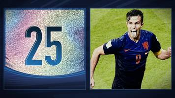 50 great world cup moments: robin van persie's sumptuous header - 2014