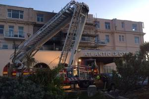 Atlantic Hotel in Newquay evacuated after major fire in early hours