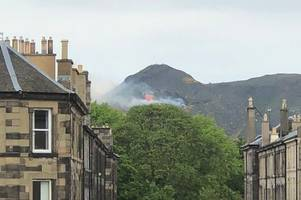 fire crews battle edinburgh wildfire blaze on arthur's seat after scottish heatwave