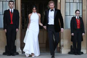 Inside look at Harry and Meghan's Royal Wedding evening reception as A-list celebs party at lavish bash hosted by James Corden