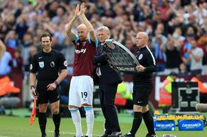 former wales star james collins 'dumped by email' as west ham contract comes to an end