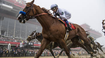justify emerges from the fog at preakness to keep triple crown pursuit alive