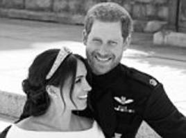Prince Harry and Meghan Markle's first official royal wedding photos