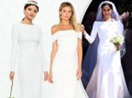 where to get your affordable version of meghan markle's £200,000 designer wedding gown