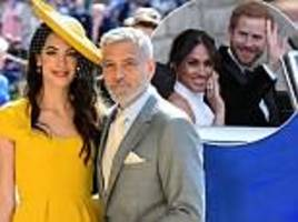 george clooney 'danced with meghan markle at royal wedding party'