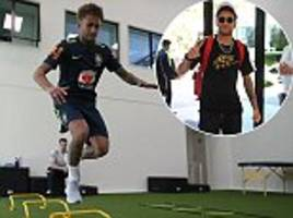 brazil aiming to reduce expectations on star man neymar at the world cup