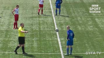 goal from kick-off: stunning start to u14s scottish cup final