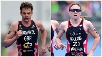 world triathlon mixed relay: jonny brownlee and vicky holland in gb team
