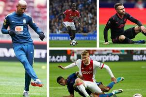 Manchester City and Spurs battle for Dutch star, Manchester United close in on first summer transfer, Liverpool and Arsenal miss out on German ace, clubs line-up for Aaron Ramsey and Paul Pogba open to PSG move