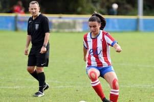 teenager scores first goal as cheltenham town ladies end season with promising display