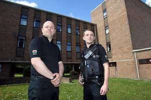 Police officers forced to fight for their lives as violent killer attacked them with claw hammer