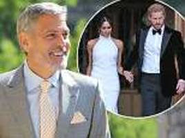 George Clooney at the Royal Wedding: Hollywood star 'jumped behind the bar to pour his OWN tequila'