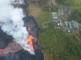 Hawaii volcano lava creeps onto geothermal power plant