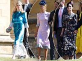uber-flattering dress worn by three royal wedding guests including camilla's daughter-in-law