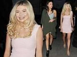 Georgia Toffolo looks pretty on night out in Mayfair