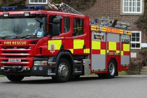 firefighters from across gloucestershire spend more than four hours tackling a serious blaze
