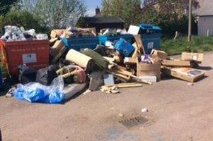 lazy householders are to blame for the closure of two gloucestershire recycling sites