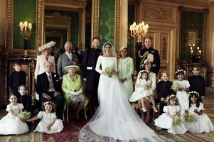 comparing prince harry and meghan markle's official royal wedding pictures to kate and william - and charles and diana