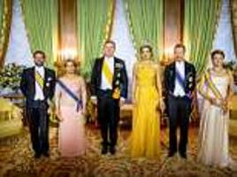 queen máxima attends glittering state dinner in luxembourg