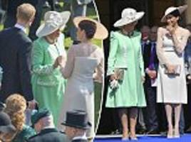 touching moment duchess of cornwall and meghan held hands at charles' 70th birthday party