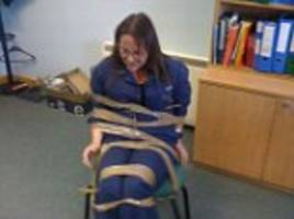 Female Canadian Marine Scotland employee tied up and gagged