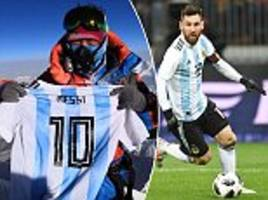 messi on top of the world as star's shirt reaches mount everest summit