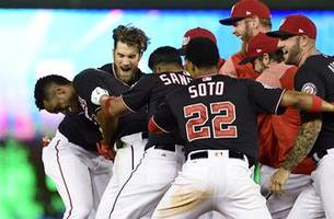 Taylor's walk off double lifts Nationals over Padres