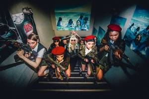 'the misandrists' film review: bruce labruce sends up feminist ideology in dated satire