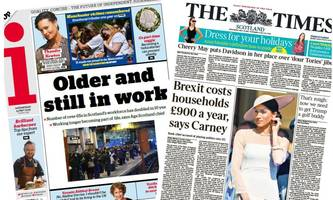 Scotland's papers: Over 65s 'forced' to work on