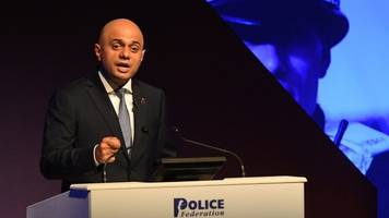 Sajid Javid pledges more funding for overstretched police
