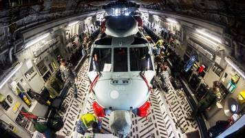 Navy helicopters transported from Scotland to Australia