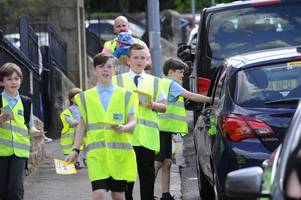 Cambuslang primary school pupils campaign to persuade parents to improve parking - two days after children were almost knocked down