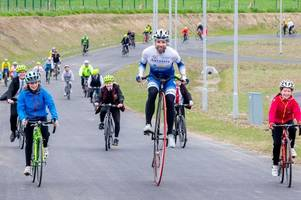 record-breaking cyclist mark beaumont opens first purpose built cycle circuit in scotland