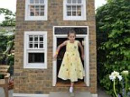 mother-of-one's wendy houses which have sash windows and own electricity supply