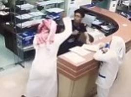 saudi man repeatedly stabs nurse in brutal attack after he refused to give him pills