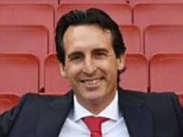 Arsenal boss Unai Emery channels his inner Arsene Wenger as he poses for series of snaps