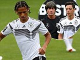 leroy sane swaps his afro for new haircut in germany training ahead of world cup warm-ups
